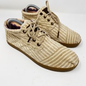Toms Beige Striped Laced Up Chukka